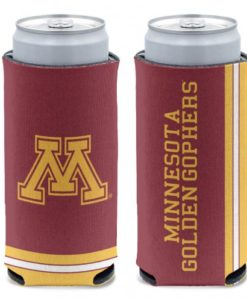 Minnesota Golden Gophers 12 oz Maroon Slim Can Koozie Holder
