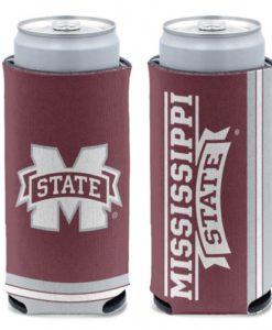 Mississippi State Bulldogs 12 oz Maroon Slim Can Koozie Holder