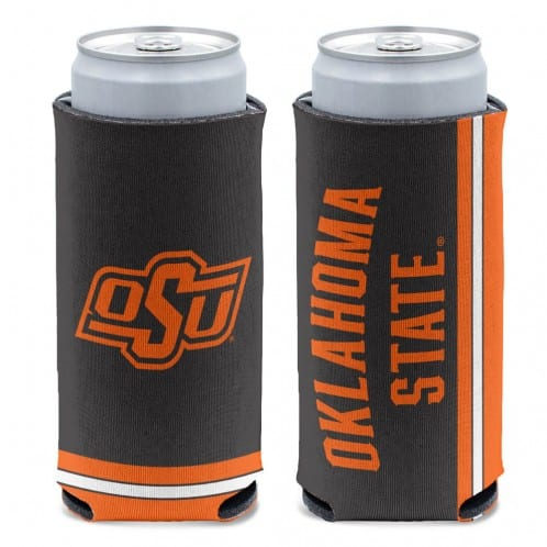 Oklahoma State Cowboys 12 oz Black Slim Can Koozie Holder