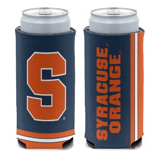 Syracuse Orange 12 oz Navy Slim Can Koozie Holder