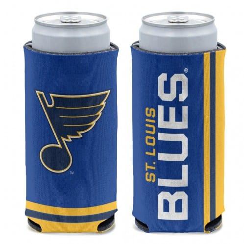 St Louis Blues 12 oz Blue Slim Can Koozie Holder