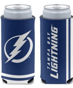 Tampa Bay Lightning 12 oz Blue Slim Can Koozie Holder