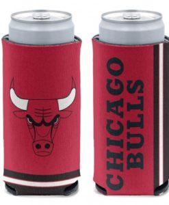 Chicago Bulls 12 oz Red Slim Can Koozie Holder