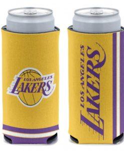 Los Angeles Lakers 12 oz Yellow Slim Can Koozie Holder