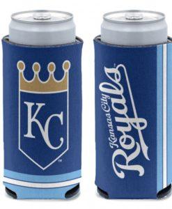 Kansas City Royals 12 oz Blue Slim Can Koozie Holder