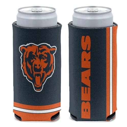 Chicago Bears 12 oz Navy Slim Can Koozie Holder