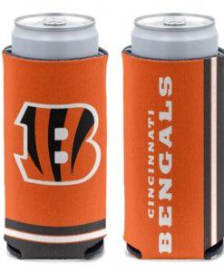Cincinnati Bengals 12 oz Orange Slim Can Koozie Holder