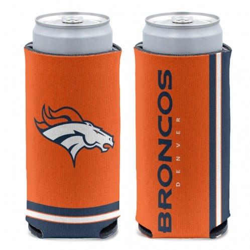 Denver Broncos 12 oz Orange Slim Can Koozie Holder