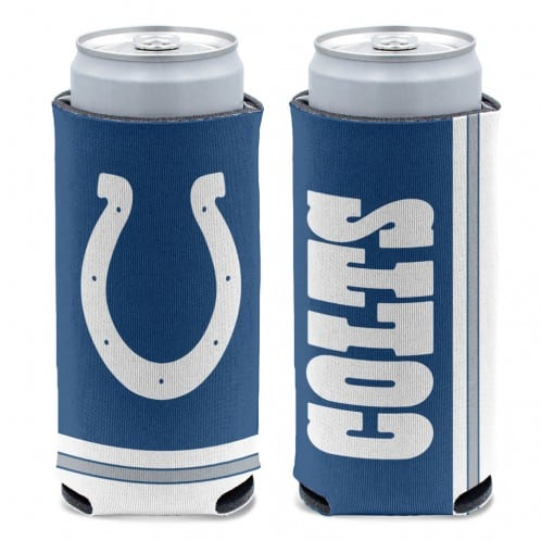 Indianapolis Colts 12 oz Blue Slim Can Koozie Holder