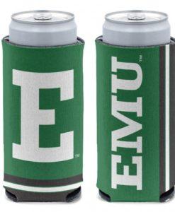 Eastern Michigan Eagles 12 oz Green Slim Can Koozie Holder