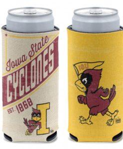 Iowa State Cyclones 12 oz Vintage Yellow Slim Can Koozie Holder