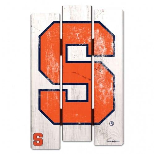 Syracuse Orange Wood Fence Sign