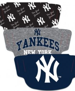 New York Yankees Mask Face Cover 3 Pack
