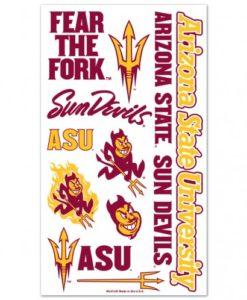 Arizona State Sun Devils Temporary Tattoos