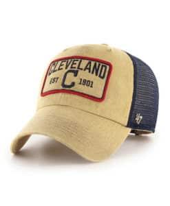 Cleveland Indians 47 Brand Gaudet Khaki Clean Up Mesh Snapback Hat