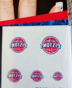Detroit Pistons Fingernail Tattoos