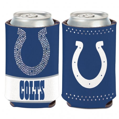 Indianapolis Colts 12 oz Blue Bling Can Koozie Holder