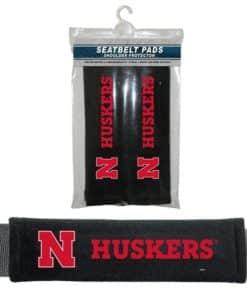 Nebraska Cornhuskers Velour Seat Belt Pads