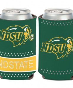 North Dakota State Bison 12 oz Green Bling Can Koozie Holder