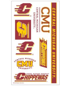 Central Michigan Chippewas Temporary Tattoos