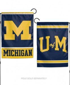 Michigan Wolverines Flag 12x18 Garden Style 2 Sided
