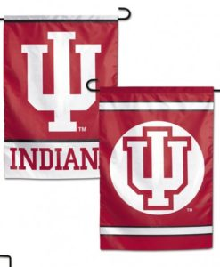 Indiana Hoosiers Flag 12x18 Garden Style 2 Sided