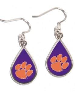 Clemson Tigers Earrings Tear Drop Style