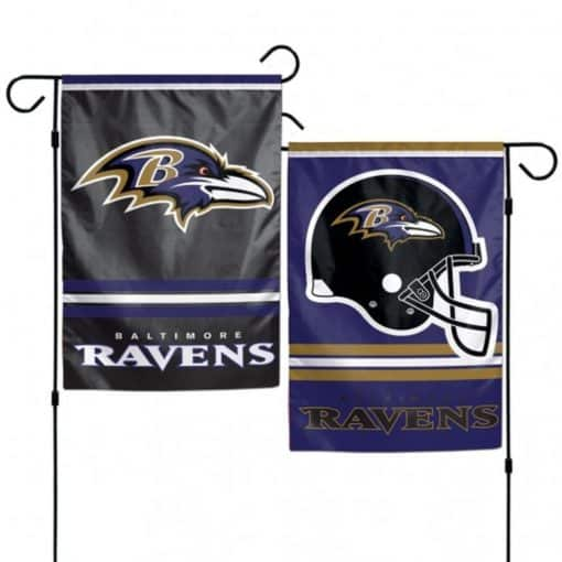 Baltimore Ravens Flag 12x18 Garden Style 2 Sided