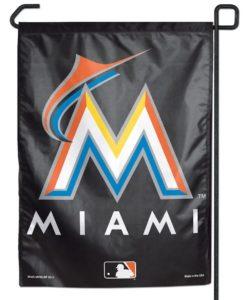 Miami Marlins Garden Flag 11x15