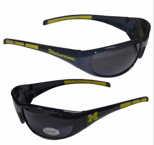 Michigan Wolverines Wrap Sunglasses