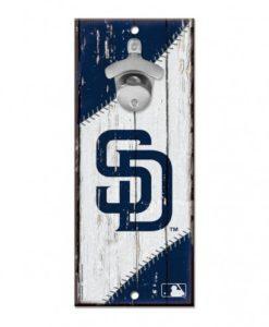 "San Diego Padres Bottle Opener Wood Sign 5"" x 11"""