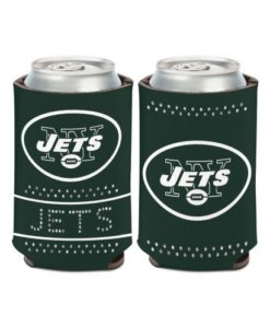 New York Jets 12 oz Green Bling Can Koozie Holder