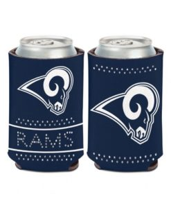 Los Angeles Rams 12 oz Navy Bling Can Koozie Holder