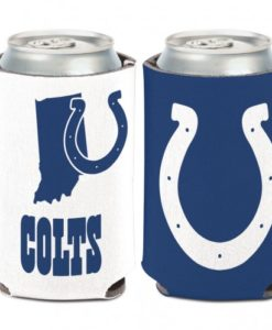 Indianapolis Colts 12 oz Blue White Indiana Can Koozie Holder