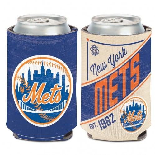 New York Mets 12 oz Blue Cooperstown Can Koozie Holder