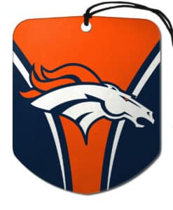 Denver Broncos Air Freshener 2 Pack Shield Design