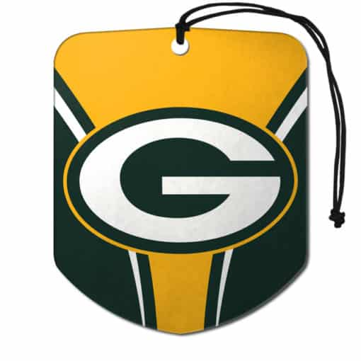 Green Bay Packers Air Freshener 2 Pack Shield Design