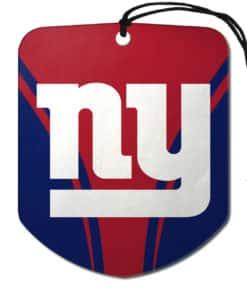 New York Giants Air Freshener 2 Pack Shield Design