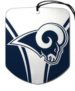 Los Angeles Rams Air Freshener 2 Pack Shield Design