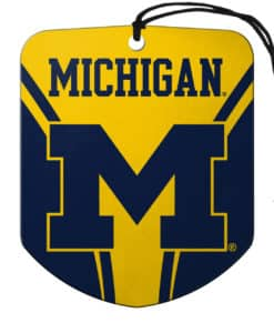 Michigan Wolverines Air Freshener Shield Design 2 Pack
