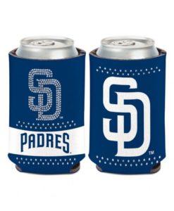 San Diego Padres 12 oz Navy Bling Can Koozie Holder
