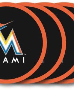 Miami Marlins Coaster Set - 4 Pack