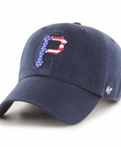 Pittsburgh Pirates Red White & Blue 47 Brand Navy Clean Up Adjustable Hat