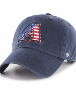 Arizona Diamondbacks Red White & Blue 47 Brand Navy Clean Up Adjustable Hat