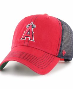 Los Angeles Angels 47 Brand Trawler Red Navy Clean Up Snapback Hat