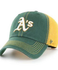 Oakland Athletics 47 Brand Trawler Dark Green Yellow Clean Up Snapback Hat
