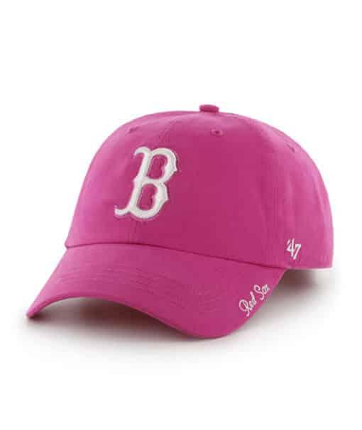 Boston Red Sox Women's 47 Brand Pink Miata Clean Up Adjustable Hat