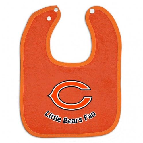 Chicago Bears Orange Snap Baby Bib