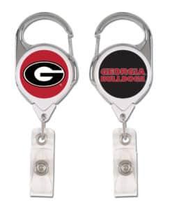 Georgia Bulldogs Badge Holder Premium Retractable