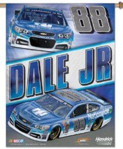 """Dale Earnhardt Jr Nascar 27""""x 37"""" Blue Vertical Flag"""